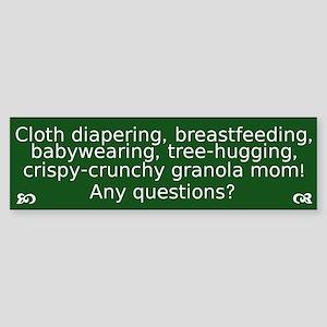 Cloth Diapering Breastfeeding Bumper Sticker