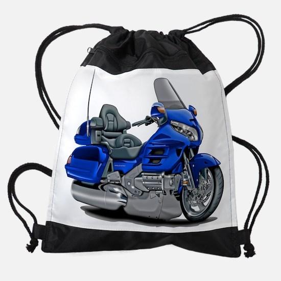 Goldwing Blue Bike.png Drawstring Bag