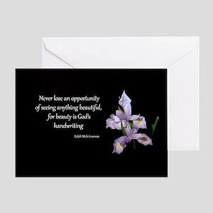 Gods Handwriting Greeting Card