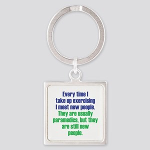 Benefits of Exercise Square Keychain