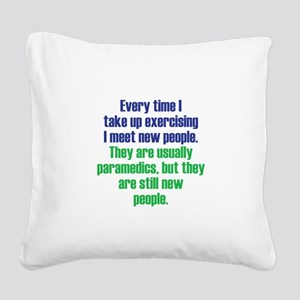 Benefits of Exercise Square Canvas Pillow