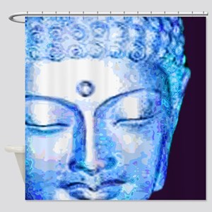Blue Buddha Shower Curtain