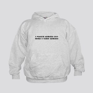 Invisible disability Kids Hoodie