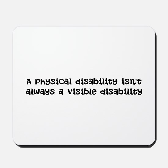 Invisible disability Mousepad