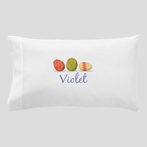 Easter Egg Violet Pillow Case