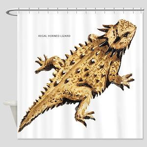 Regal Horned Lizard Shower Curtain