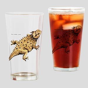 Regal Horned Lizard Drinking Glass