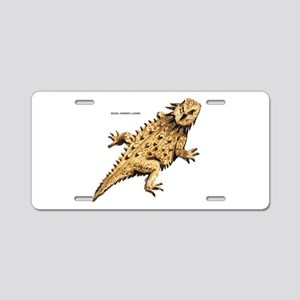 Regal Horned Lizard Aluminum License Plate