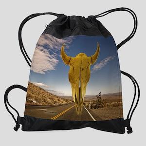 DesertHighway2sm Drawstring Bag