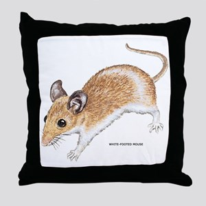 White-Footed Mouse Throw Pillow