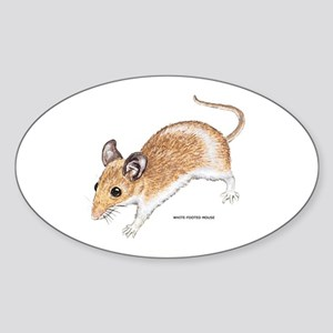 White-Footed Mouse Sticker (Oval)