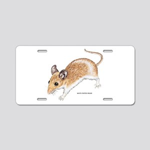 White-Footed Mouse Aluminum License Plate