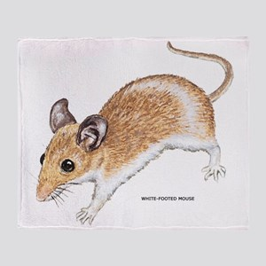 White-Footed Mouse Throw Blanket