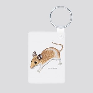 White-Footed Mouse Aluminum Photo Keychain