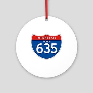 Interstate 635 - TX Ornament (Round)
