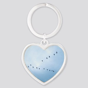 Flying South Heart Keychain