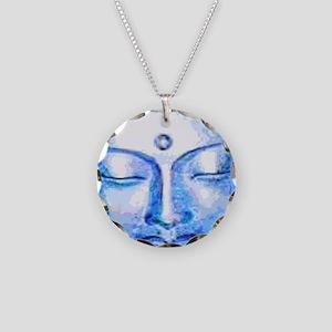 Blue Buddha Face Necklace