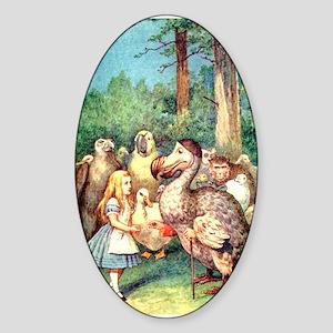 Alice and the Dodo Bird Sticker (Oval)