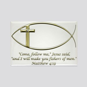 Matthew 4:19 Rectangle Magnet