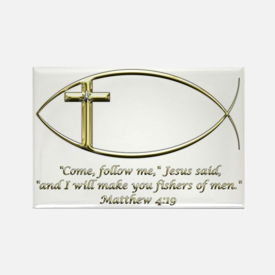 Matthew 4:19 Rectangle Magnet