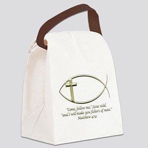 Matthew 4:19 Canvas Lunch Bag