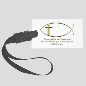 Matthew 4:19 Luggage Tag