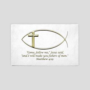 Matthew 4:19 3'x5' Area Rug