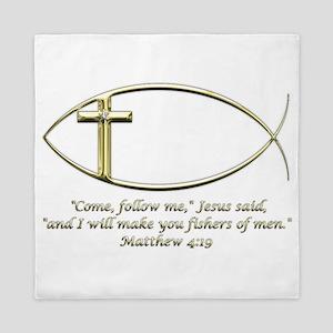 Matthew 4:19 Queen Duvet