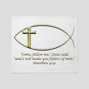 Matthew 4:19 Throw Blanket