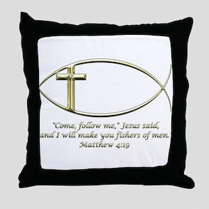Matthew 4:19 Throw Pillow