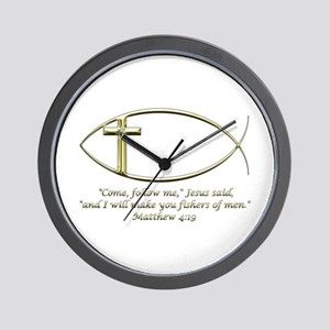 Matthew 4:19 Wall Clock