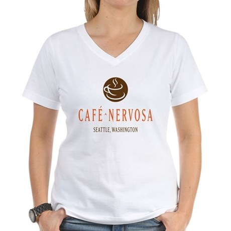 Cafe Nervosa Women's V-Neck T-Shirt