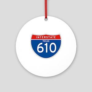Interstate 610 - TX Ornament (Round)