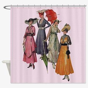 Women's Fashions 1915 Shower Curtain