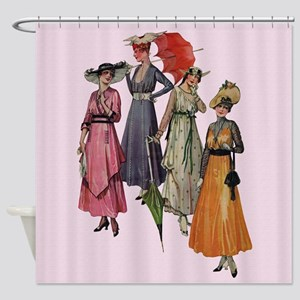 Women's Fashions 1915 Shower Curtain