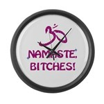 Namaste Bitches - Purple Glitter Effect Large Wall
