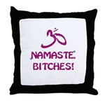 Namaste Bitches - Purple Glitter Effect Throw Pill