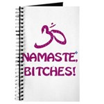 Namaste Bitches - Purple Glitter Effect Journal