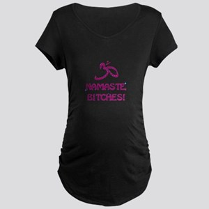 Namaste Bitches - Purple Glitter Effect Maternity