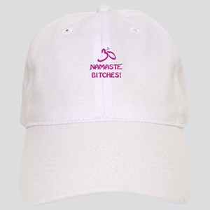 Namaste Bitches- Pink Glitter Effect Baseball Cap