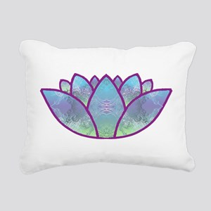 LOTUS LaptopSkin Rectangular Canvas Pillow