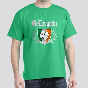 McLaughlin Shamrock Crest Dark T-Shirt