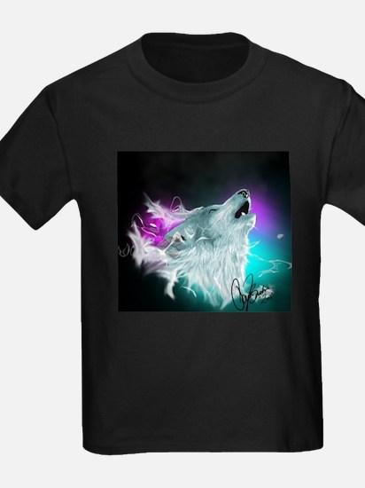 Northern Lights Wolf Spirit T-Shirt