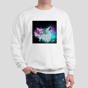 Northern Lights Wolf Spirit Sweater