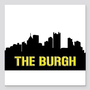 "The Burgh Square Car Magnet 3"" x 3"""