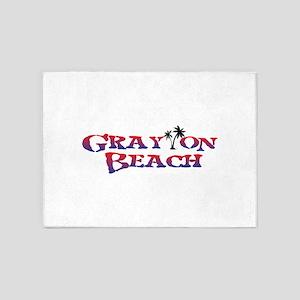 Grayton Beach Florida. 5'x7'Area Rug