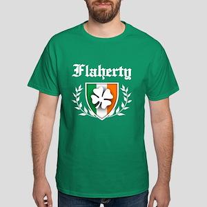 Flaherty Shamrock Crest Dark T-Shirt