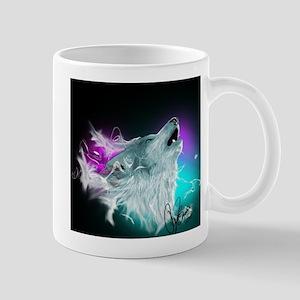 Northern Lights Wolf Spirit Mug