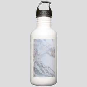 White Marble Water Bottle