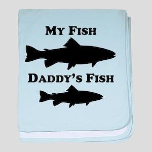 My Fish Daddys Fish baby blanket